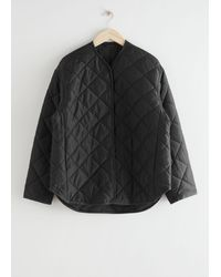 & Other Stories Oversized Quilted Jacket - Black