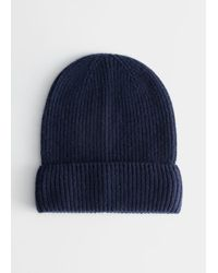 & Other Stories Soft Cashmere Knit Beanie - Blue