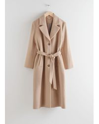 & Other Stories Oversized Alpaca Blend Coat - Natural