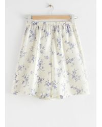 & Other Stories Relaxed Silk Shorts - White