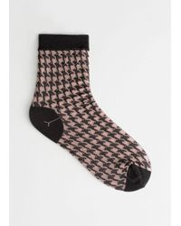 & Other Stories - Sheer Houndstooth Socks - Lyst