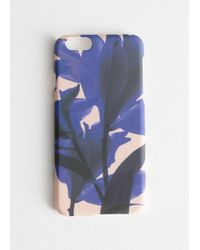& Other Stories Tropical Flower Iphone Case - Blue