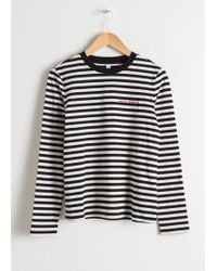 & Other Stories - Striped Long Sleeve Tee - Lyst