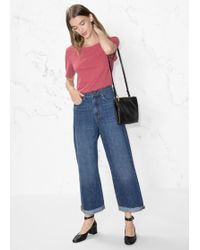 & Other Stories - Cropped Wide Jeans - Lyst