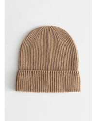 & Other Stories Soft Cashmere Knit Beanie - Natural