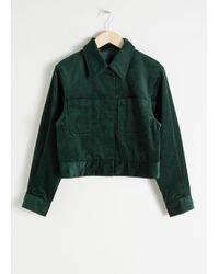 & Other Stories - Cropped Corduroy Workwear Jacket - Lyst
