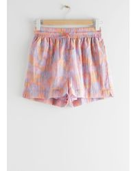 & Other Stories Relaxed Drawstring Shorts - Yellow