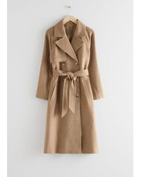 & Other Stories Belted Trench Coat - Natural