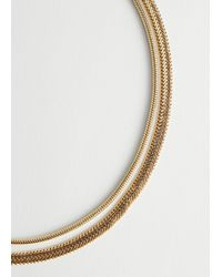 & Other Stories Duo Layered Chain Necklace - Metallic