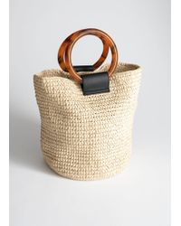 & Other Stories Woven Straw Tote Bag - Natural