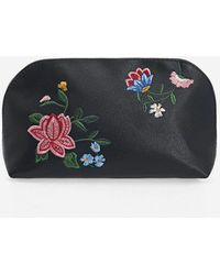 Stradivarius - Embroidered Toiletry Bag - Lyst