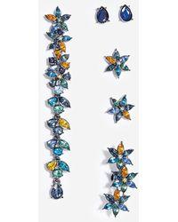 Stradivarius | Set Of 5 Flower Earrings And Ear Cuffs | Lyst