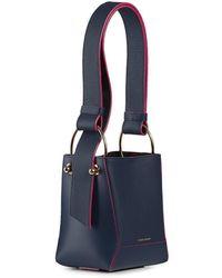 Strathberry Lana Nano Bucket Bag - Blue