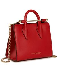 Strathberry - The Nano Tote In Red Calfskin - Lyst