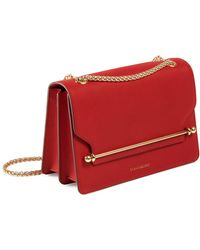 Strathberry Mini East/west Leather Crossbody Bag - Red