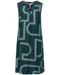 Street One Kleid mit Print - Grün