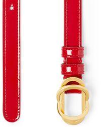 Stuart Weitzman Double Buckle Signature Belt 15mm - Red