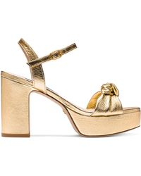 Stuart Weitzman The Mirri 100 Sandal - Metallic