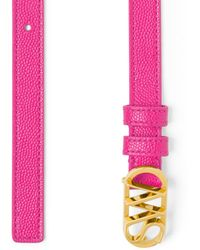 Stuart Weitzman Sw Logo Belt 15mm - Pink