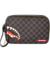 Sprayground Sharks In Paris Checkerboard Wash Bag - Multicolor