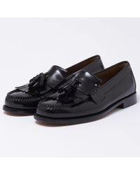 G.H. Bass & Co. - Layton Black Moc Kiltie Leather Loafer Shoes - Lyst