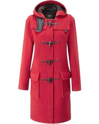 Gloverall Womens Original Duffle Coat - Red