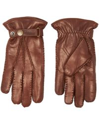 Hestra Chestnut Jake Hairsheep Leather Gloves 23530-760 - Brown