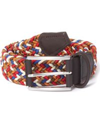 Andersons - Anderson's Woven Multi Brown Belt Af2949 - Lyst