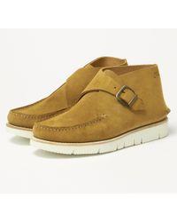 Fracap Tu321w Camel Suede Shoe - Natural