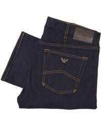 Emporio Armani J21 Stretch Cotton Jeans - Blue
