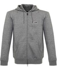 Armani Jeans - Zip Grigio Grey Track Jacket - Lyst