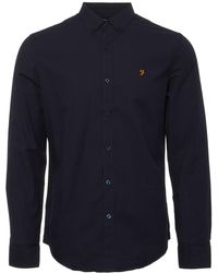 Farah True Navy Leon Shirt - Blue