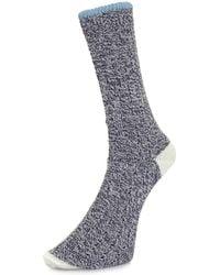 Universal Works - Stratos Navy Socks - Lyst