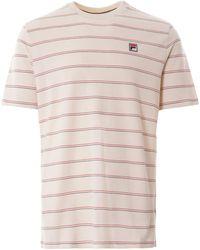 Fila - Leon T-shirt - Turtle Dove - Lyst
