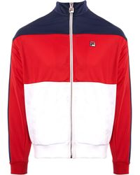 d0083dee439f Fila Vintage - Sterling Track Top - Chinese Red & White - Lyst