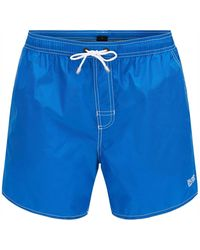 BOSS - Bright Blue Lobster Quick Dry Swim Shorts - Lyst