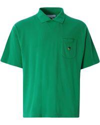 YMC Frat Cotton Slub Jersey Polo Shirt - Green