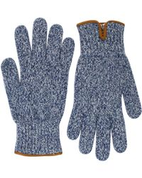 Universal Works - Peak Wool Navy Gloves - Lyst
