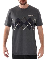 adidas Originals Argyle Logo T Shirt - Gray