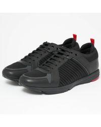 HUGO - Hugo Boss Hybrid Runn Black Shoes - Lyst