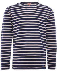 Armor Lux Breton Striped Shirt - Blue