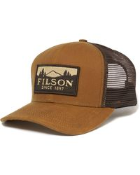 Filson Dark Tan Logger Mesh Cap 11030237 Color: Dark Tan, Size: O/s - Brown