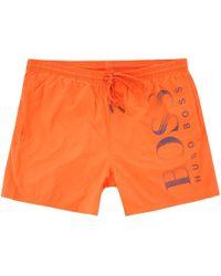 BOSS Octopus Swim Shorts - Bright Orange