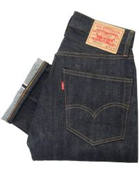 Levi's Levi's Vintage 505 Pre- Shrunk Dark Wash Selvage Denim Jeans 67505-0098 - Blue