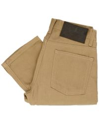 Naked & Famous - Naked And Famous Weird Guy Tan Beige Selvedge Jeans - Lyst