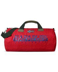 Napapijri - Bearing A Red Weekend Bag - Lyst