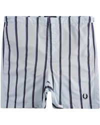 Fred Perry Striped Swim Shorts - Blue
