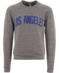 Ebbets Field Flannels Los Angeles Angels Crew Neck Sweatshirt - Grey L