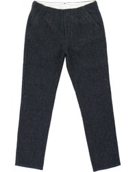 Still By Hand - Navy Wool Trousers - Lyst