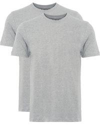 Edwin Double Pack Crew Neck Grey T-shirt I018344 21